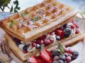 Waffles with Custard and Berries recipe