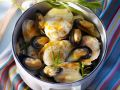 White Wine Steamed Mussels and Monkfish recipe