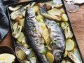 Whole Trout Sheet Pan Bake with Potatoes recipe
