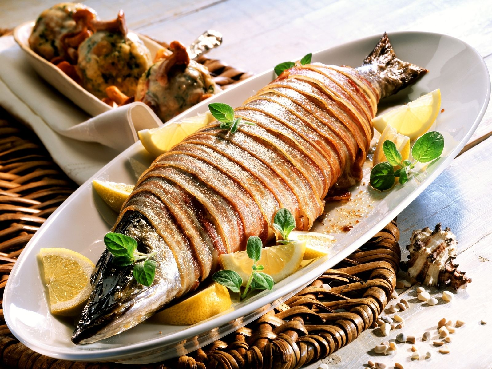 Image result for bacon wrapped pike