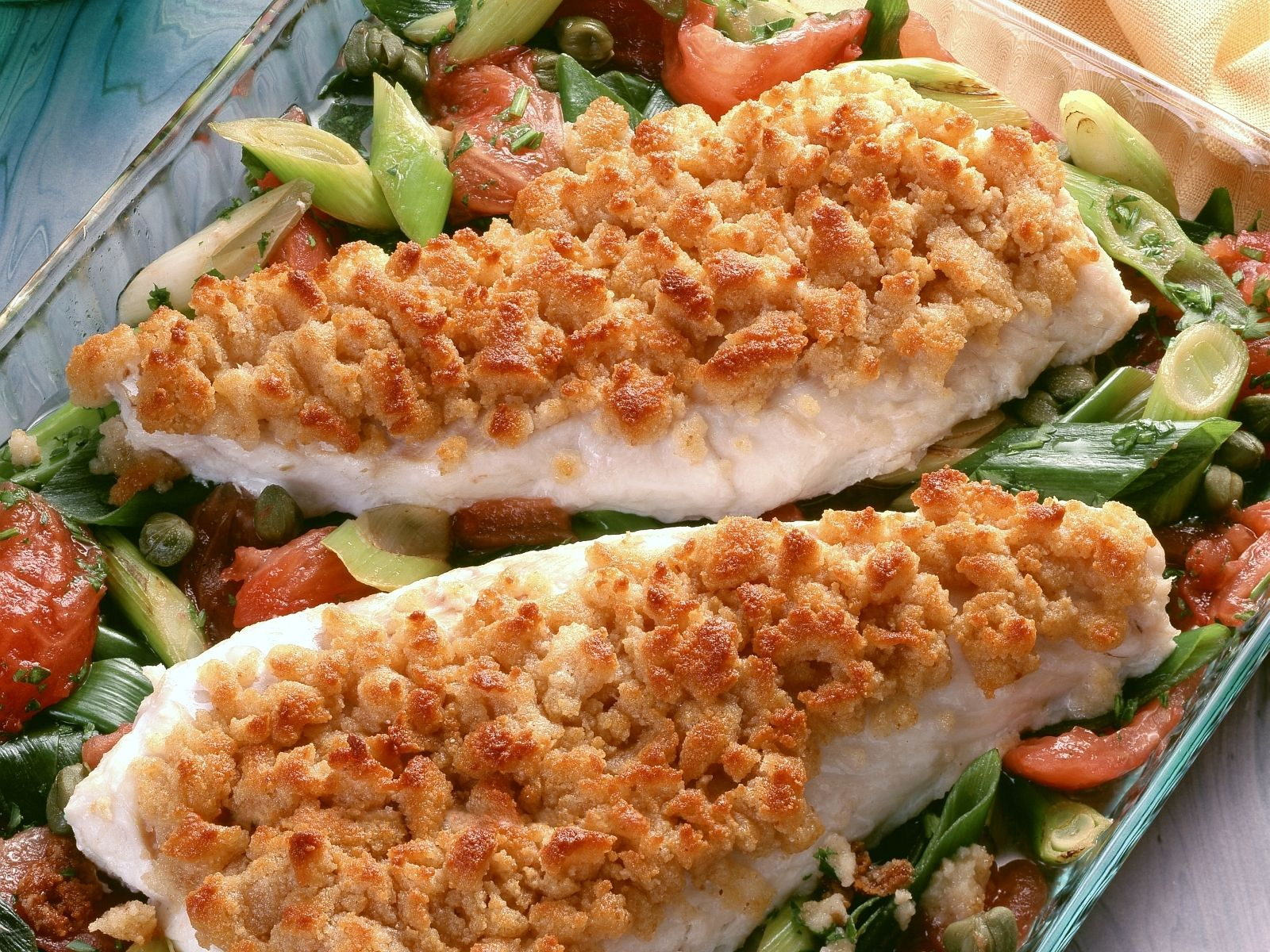 Breaded Cod with Vegetables recipe | Eat Smarter USA
