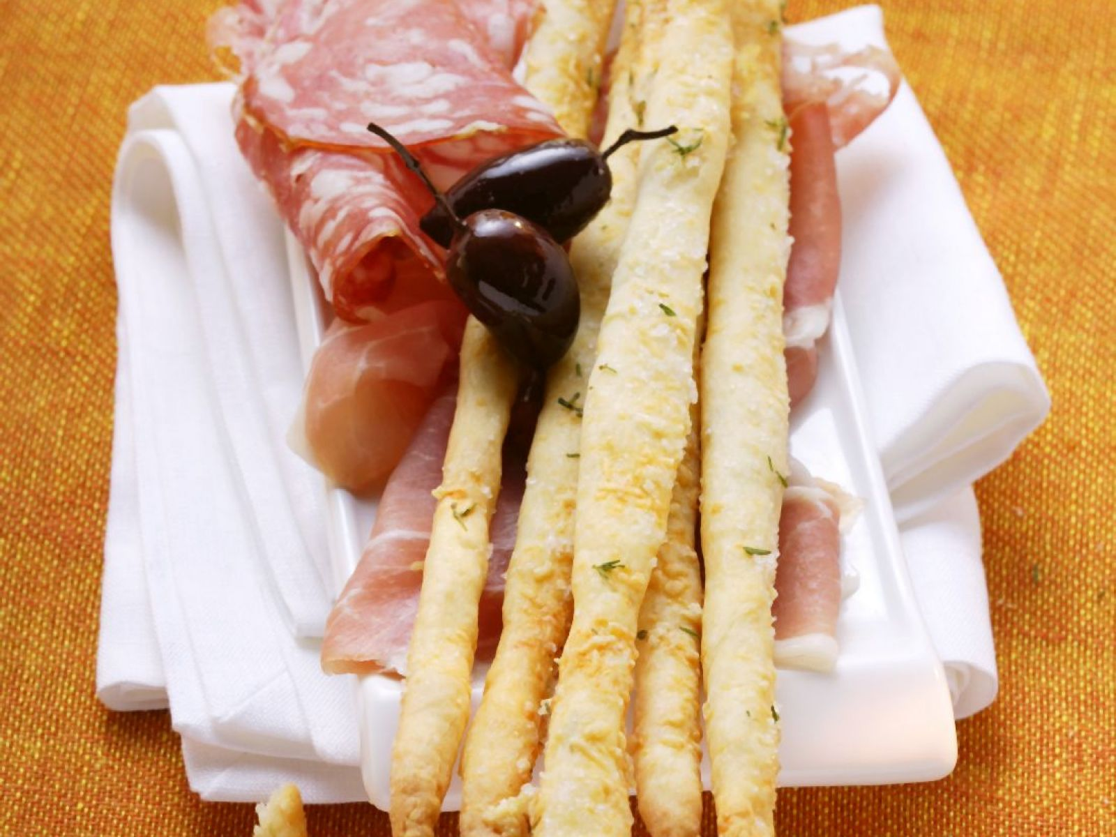 Fresh Italian Breadsticks With Salami Recipe Eat Smarter Usa