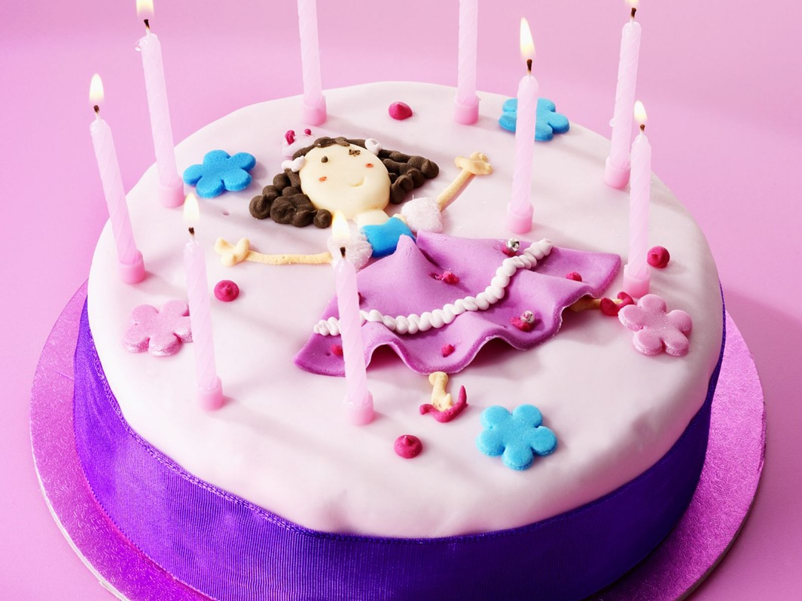 Incredible Girls Birthday Cake With Candles Recipe Eat Smarter Usa Funny Birthday Cards Online Elaedamsfinfo