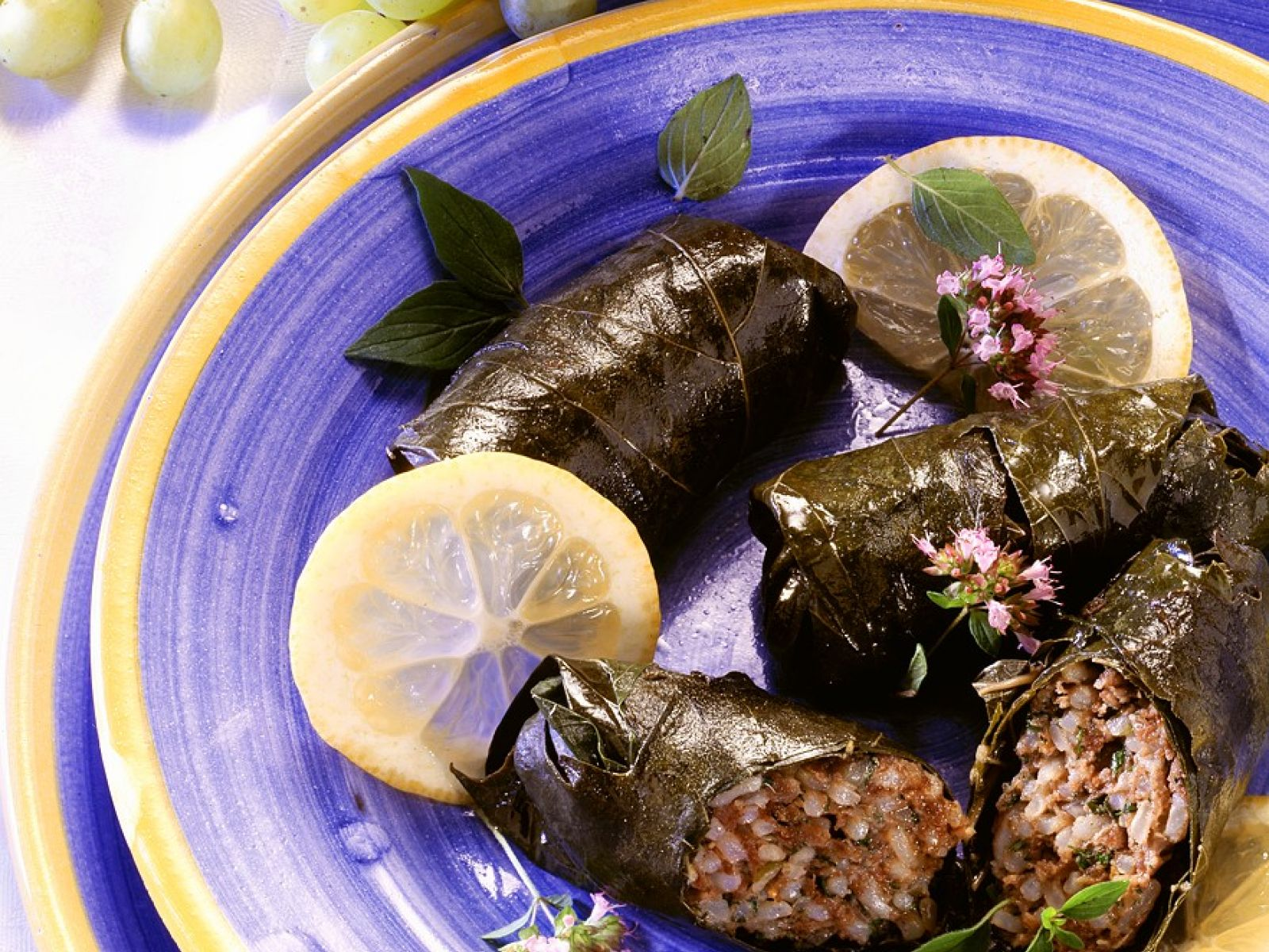 Rice Stuffed Grape Leaves With Raisins And Cinnamon Recipe Eat Smarter Usa