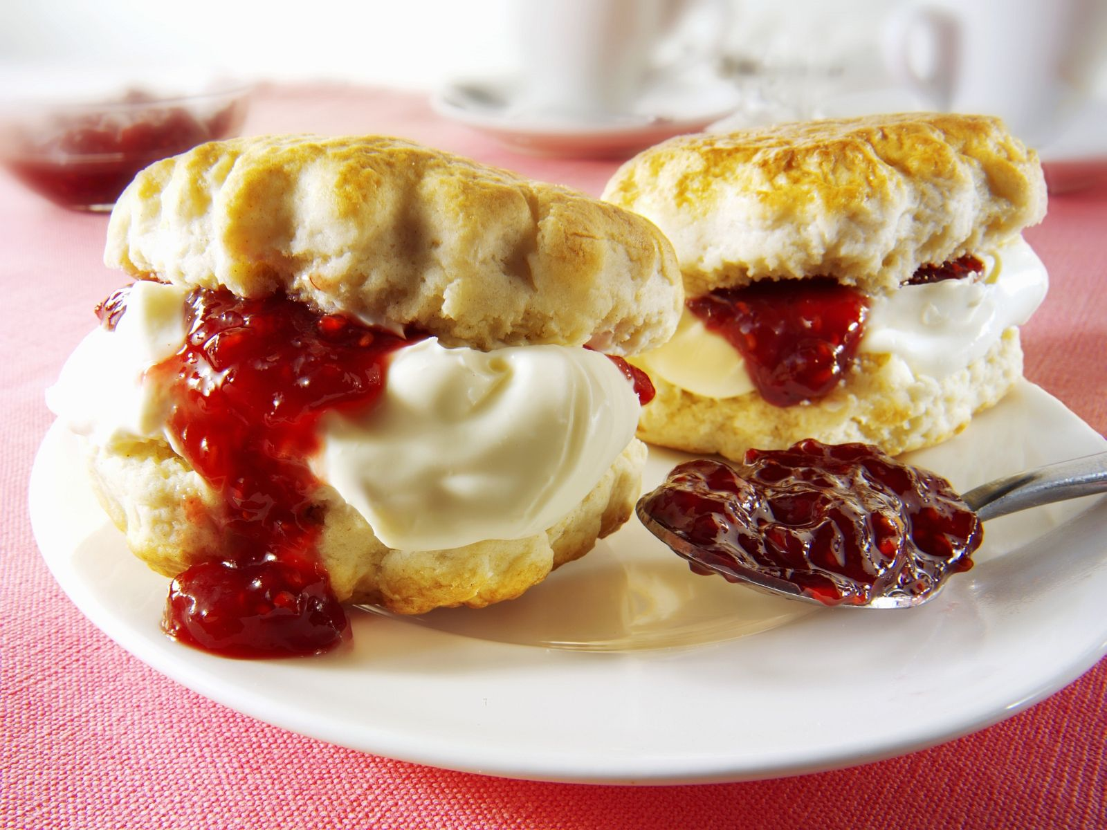 Scones With Raspberry Jam And Clotted Cream Recipe Eat Smarter Usa