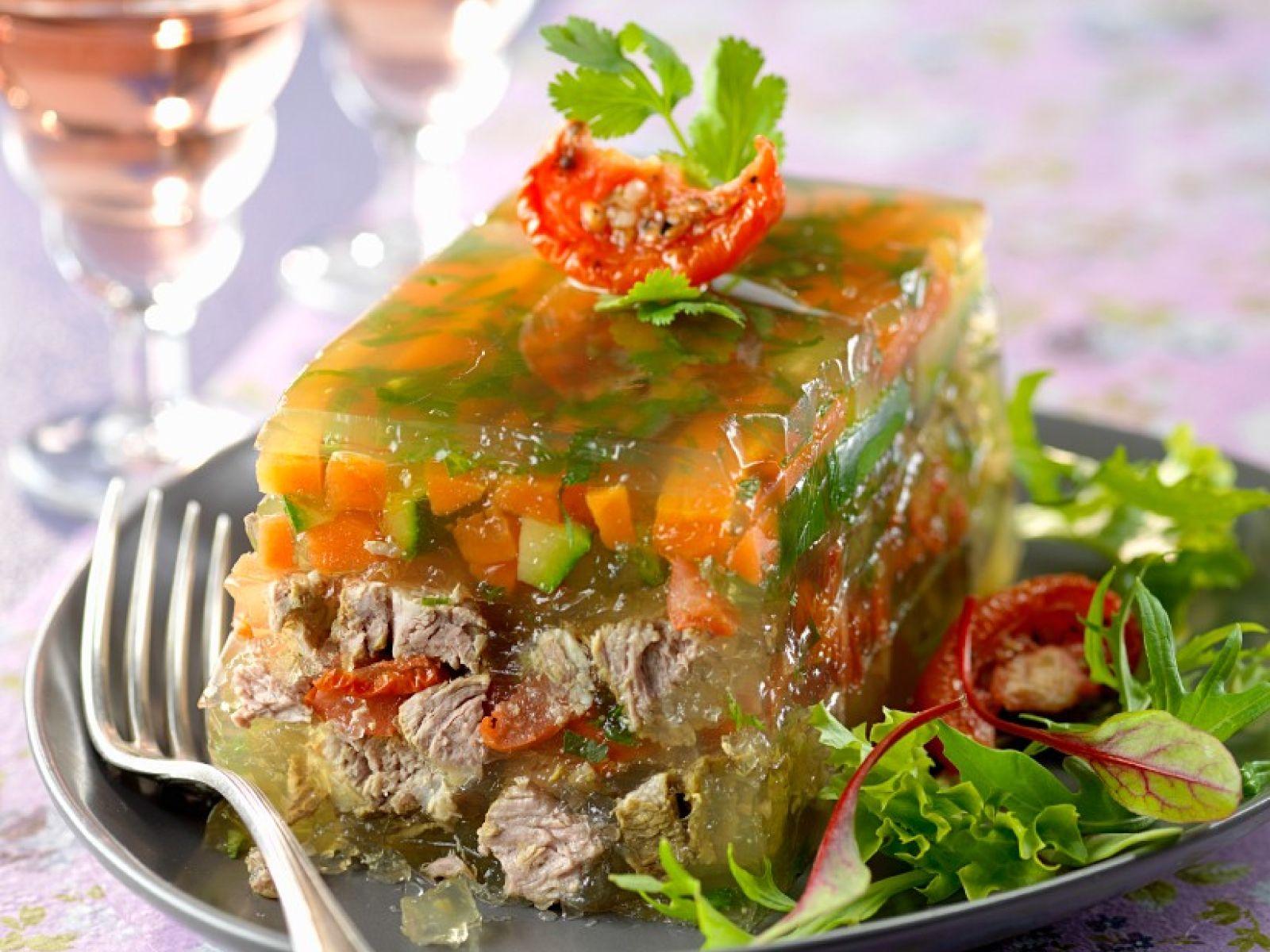 Vegetable Beef Aspic
