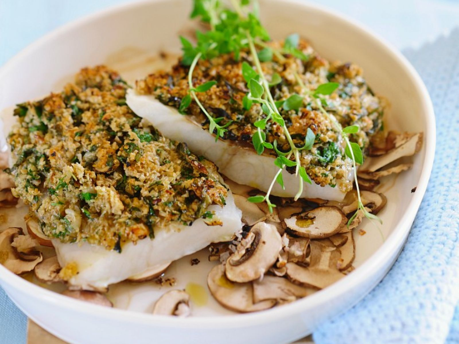 White Fish Fillets With Topping Recipe Eat Smarter Usa
