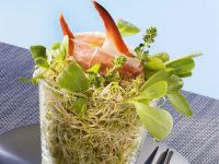 Alfalfa Sprouts with Crab Claws recipe