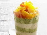 Almond and Pistachio Mousse with Citrus Fruit Salad recipe