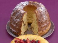 Almond Bundt Cake with Rum Raisins recipe