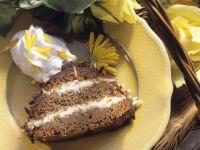 Almond Cake with Cream Filling recipe