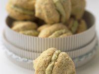 Almond-Chocolate Meringue Kisses with Pistachio Buttercream recipe