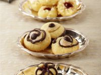 Almond Cookies with Chocolate Drizzle recipe