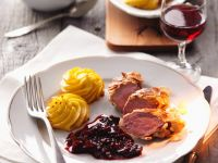 Almond-Crusted Venison Tenderloin with Plum Sauce recipe
