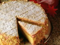 Almond Meringue Cherry Cake recipe