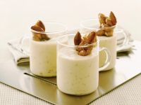 Almond Mousse with Caramel Almonds recipe