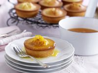 Almond Muffins with Orange Glaze