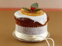 Almond-Orange Cakes with Icing recipe