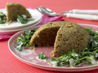 Almond Pilaf with Creamed Spinach recipe