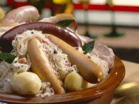 Alsatian Mixed Pork Grill with Sauerkraut recipe