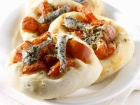 Anchovy and Cherry Tomato Flatbread recipe