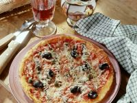 Anchovy Pizza with Olives and Gouda recipe