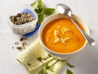 Apple and Bell Pepper Soup with Toasted Seeds recipe