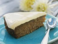Apple and Carrot Cake with Cream Topping recipe