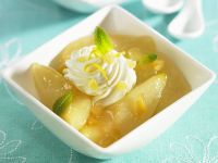 Apple and Pear Compote with Whipped Cream recipe