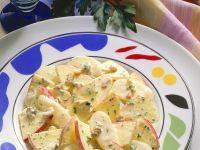Apple and Radish Salad with Yogurt Dressing recipe