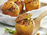 Apple Bake with Meat Stuffing recipe