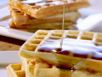 Apple Cinnamon Waffles with Maple Syrup recipe