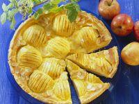 Apple Custard Tart with Almonds recipe