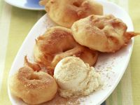 Apple Fritters with Vanilla Ice Cream recipe