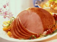 Apple-Glazed Roast Ham recipe