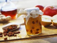 Apple Jam with Ginger and Calvados-soaked Raisins recipe