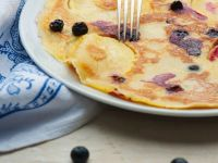 Apple Pancakes with Blueberries recipe