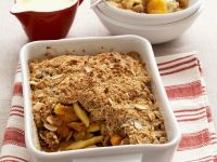 Apple, Pear and Dried Apricot Crumble recipe