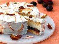 Apple Sponge Cake with Plum and Cream Filling recipe