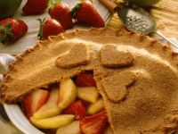 Apple-Strawberry Pie with a Whole-Wheat and Almond Crust