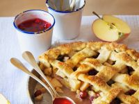 Apple Tart with Cherry Compote recipe