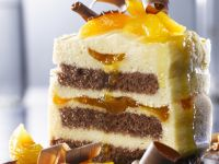 Chocolate and Apricot Mousse Cake recipe