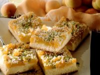 Apricot Cake with Pistachios and Coconut recipe