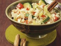 Aromatic Rice with Zucchini and Almonds recipe
