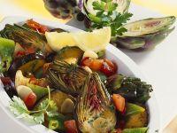 Artichoke and Eggplant Salad recipe