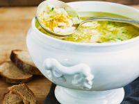 Artichoke and Lentil Soup with Perch recipe