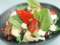 Artichoke Heart and Pepper Salad recipe