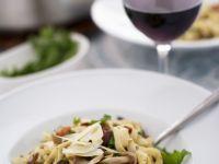 Artichoke, Mushroom, and Pancetta Pasta recipe