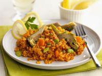 Artichoke Paella recipe