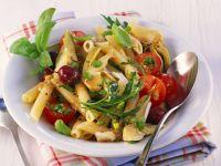 Artichoke Pasta Salad with Cherry Tomatoes recipe